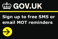 Sign up to free SMS or email MOT reminders